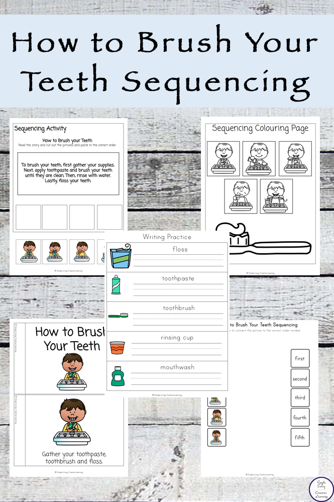 How to Brush Your Teeth Sequencing Free Printable