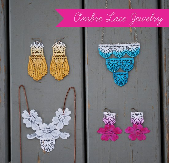 DIY Ombre Lace Jewelry