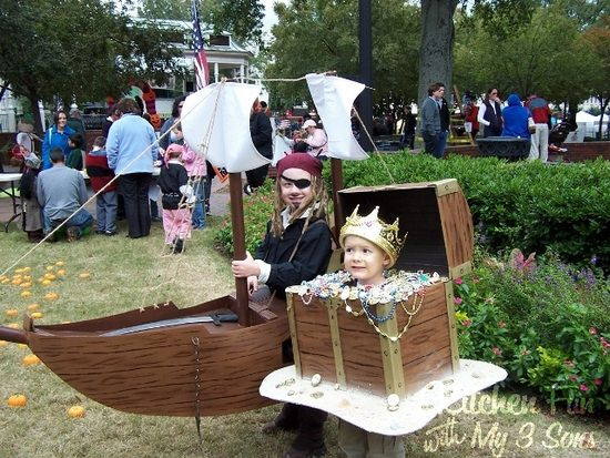 DIY Pirate Ship and Treasure Chest Costumes