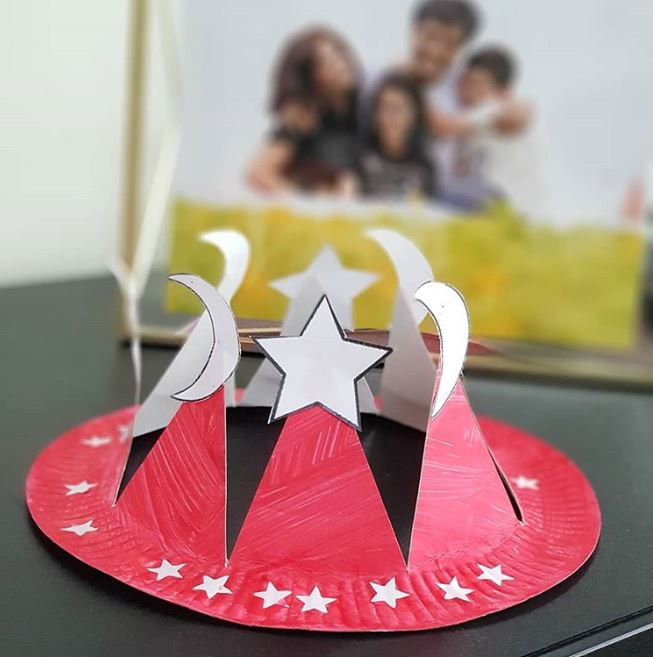 paper plate hat by rainbow diaries