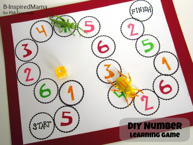 DIY Number Learning Game from B-InspiredMama 1