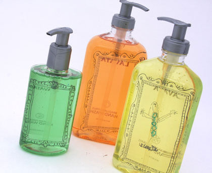 liquid soap with artwork for grandparents