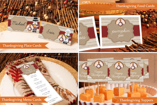 Thanksgiving Party Printables