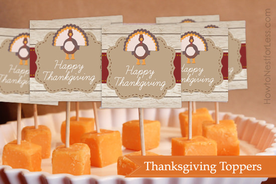 thanksgiving toppers free printable