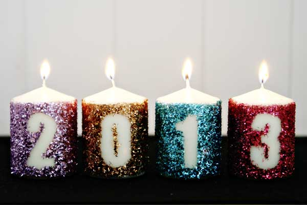 DIY New Year's Candles