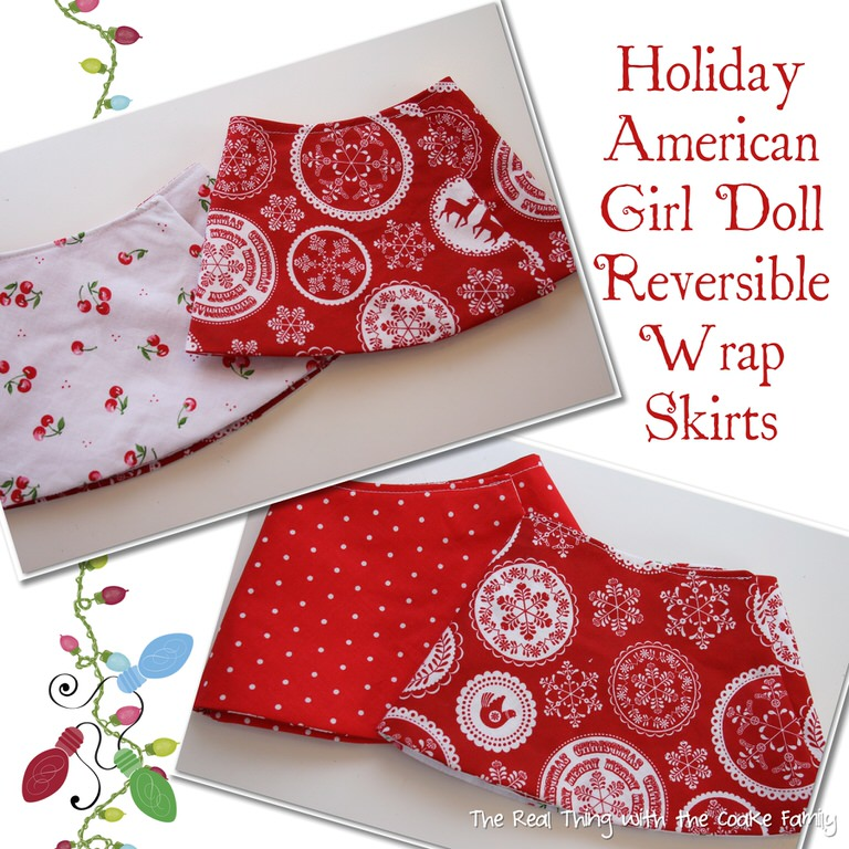 Free Doll Clothes Pattern ~ Holiday Reversible Wrap Skirt - Page 095