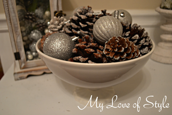 Frosted Pinecone display 1