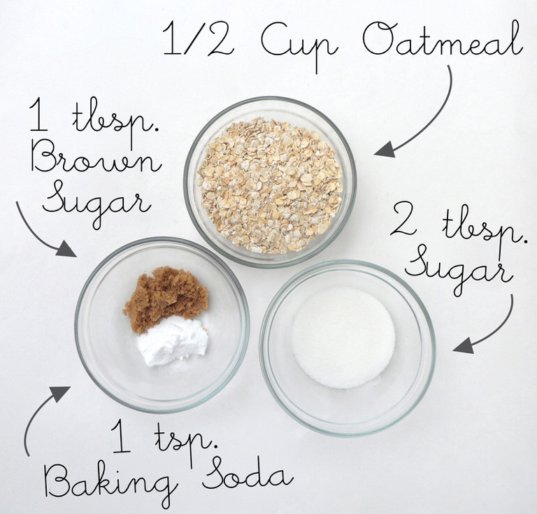 Oatmeal Coconut Cookie Scrub3