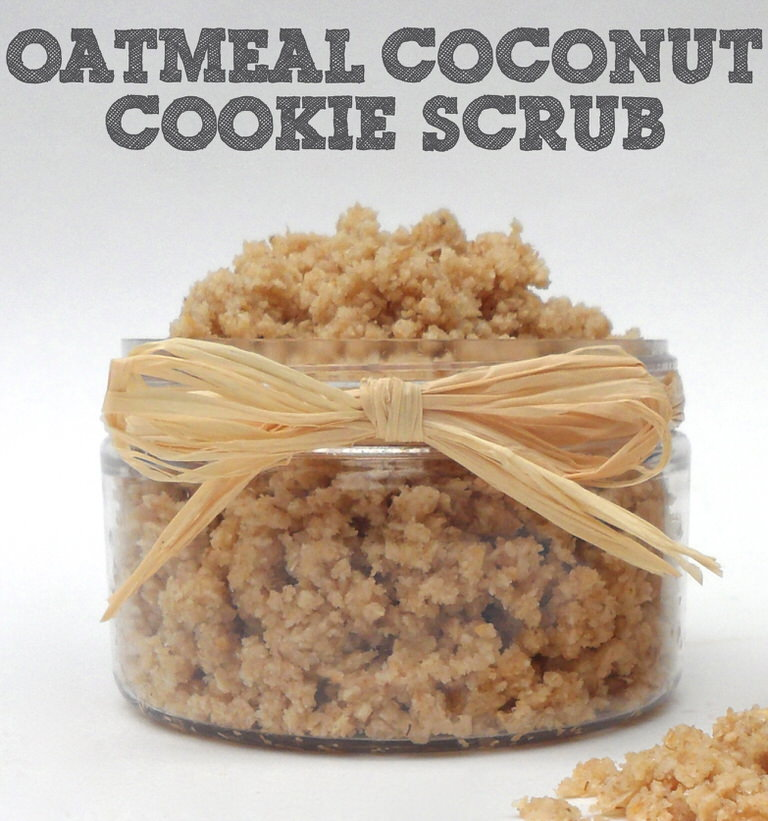 Oatmeal Coconut Cookie Scrub6