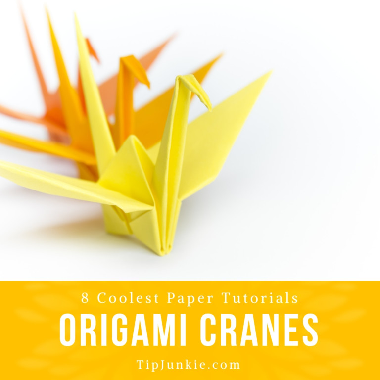 Origami Crane Mobile - One Dog Woof | 768x768