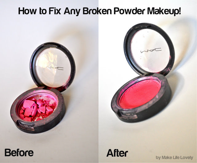 How to Fix Any Broken Powder Makeup Collage