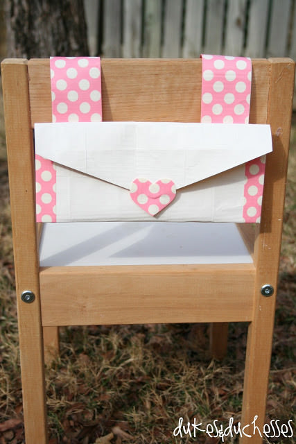 Duct Tape Valentine Holder