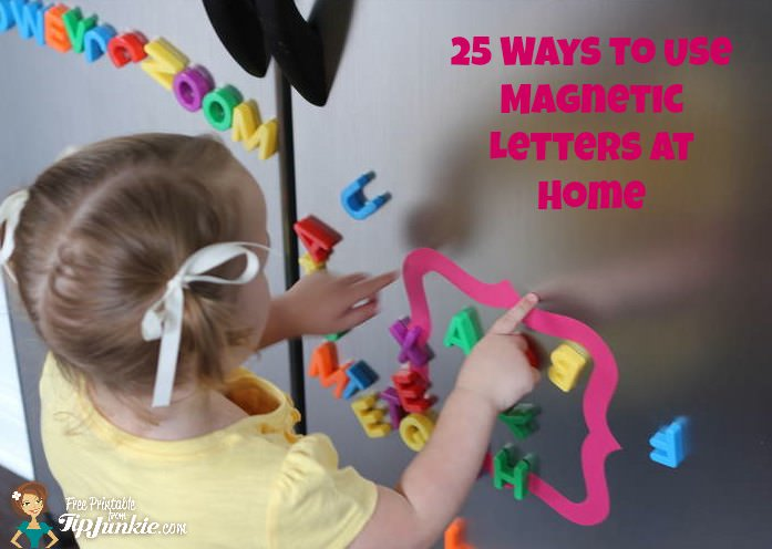 25 Ways to Use Magnetic Letters at Home
