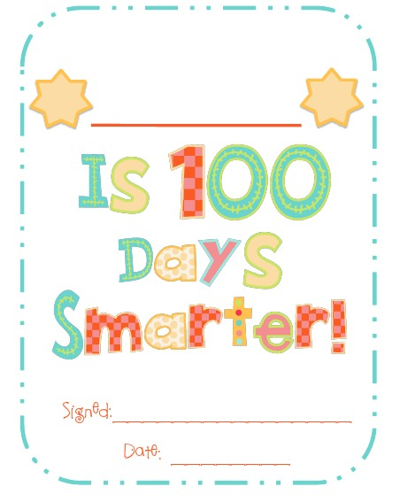 picture regarding 100 Days Printable named 75 Smart Strategies for 100 times of College or university Idea Junkie