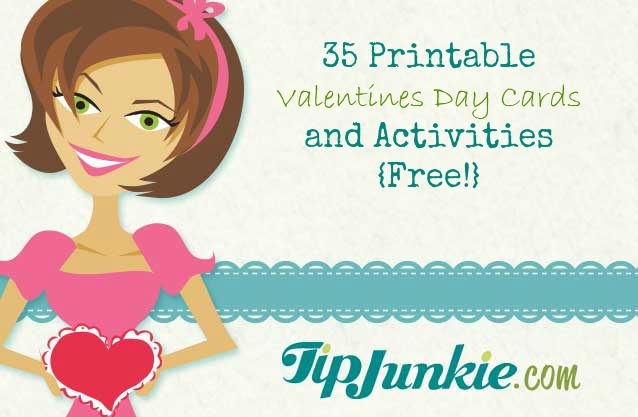 35 Printable Valentines Day Cards and Activities {Free!} | Tip Junkie