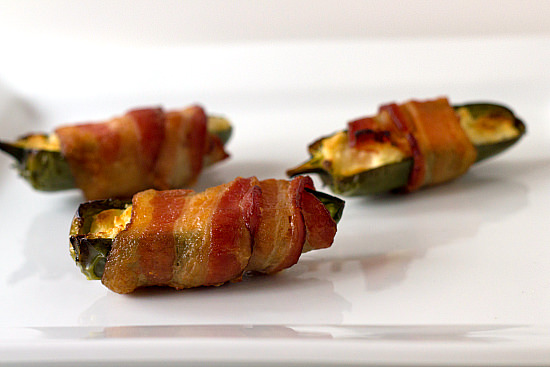 Cream Cheese Stuffed, Bacon-Wrapped Jalapeños