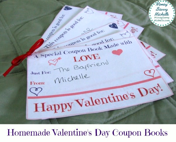 homemade valentine's day coupon books spread