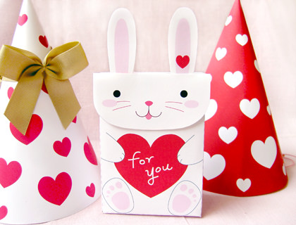 printable bunny valentine goodie bag these little goody bags would make excellent party favors for the classroom filled with treats or school supplies