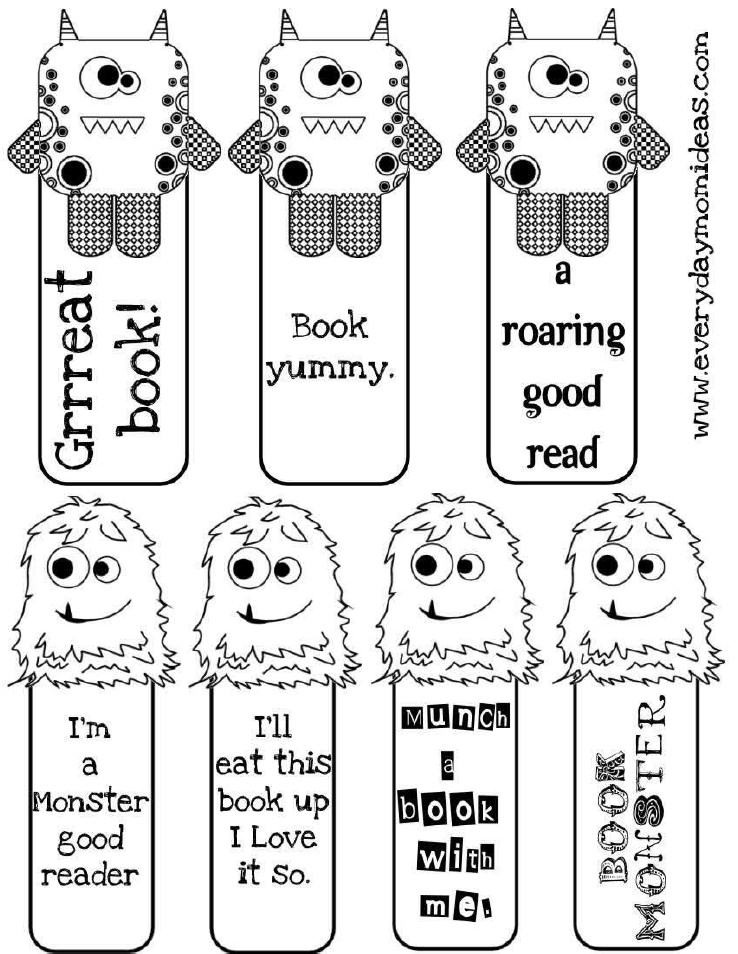 Lil Monster Bookmarks