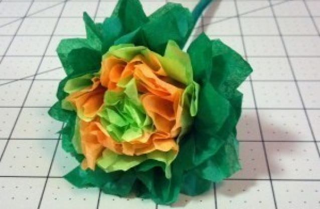Easy Tissue Paper Flower