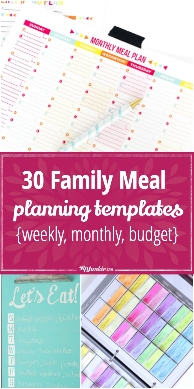 30 Meal Planning Templates That Will Make Dinner Time EASIER!