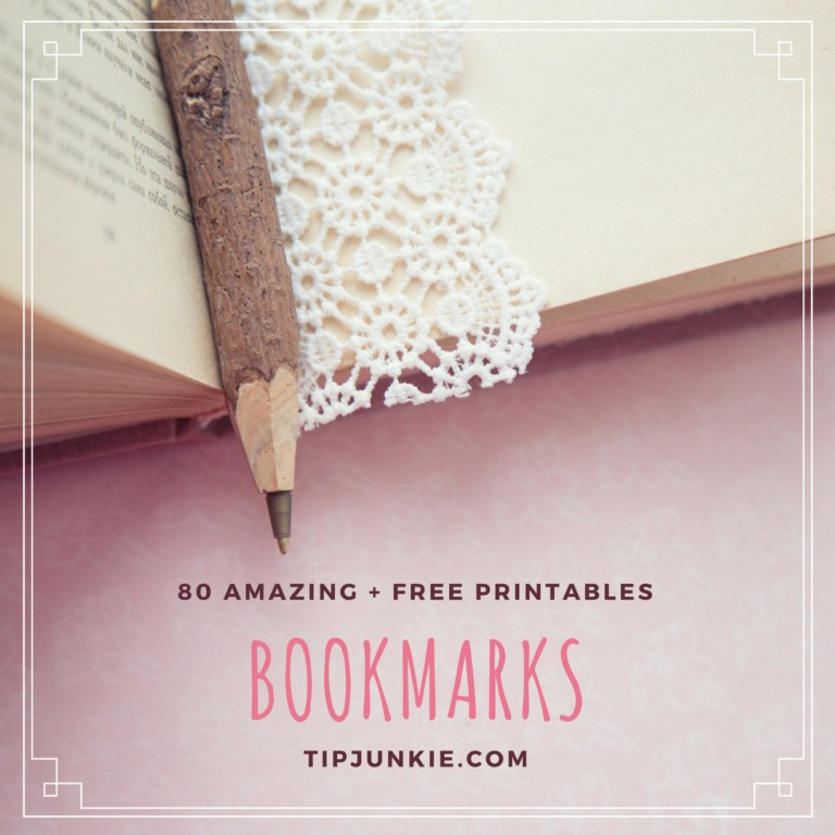 80 Free Amazing Bookmarks to Make plus free printables