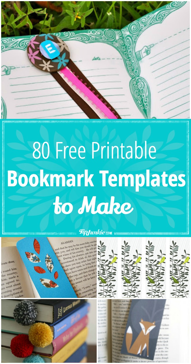 80 Printable Bookmarks to Make! Includes coloring bookmarks, bookmarks for kids, Harry Potter bookmarks, and more!