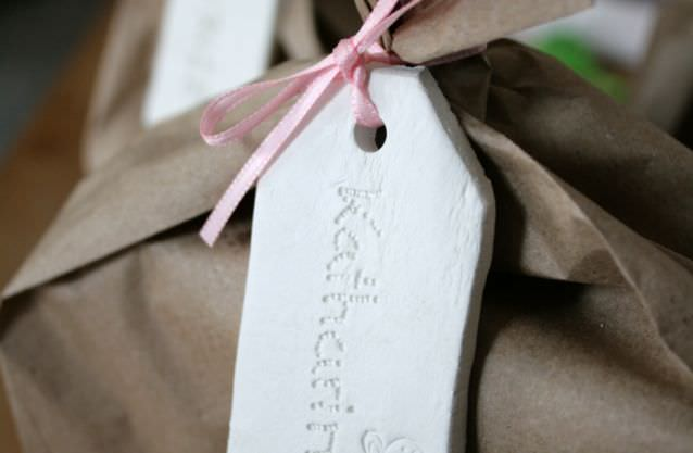 White Clay Name Tags