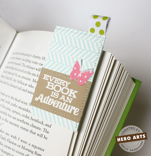 Corner Bookmark with Accent Ribbon