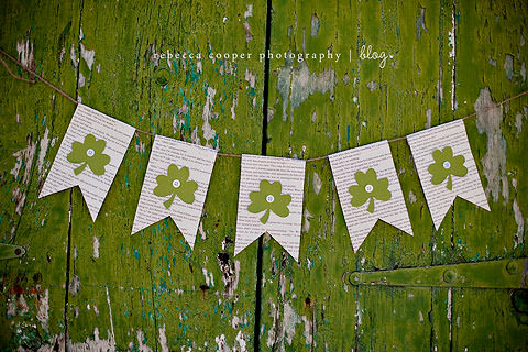 Book Page St. Patrick's Day Banner