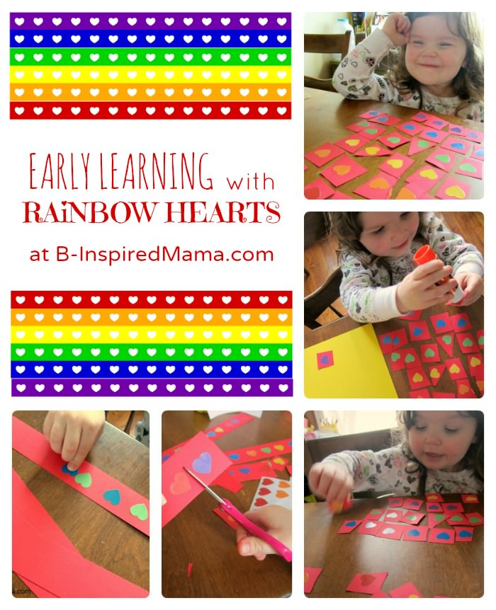 Rainbow Heart Early Learning Fun collage