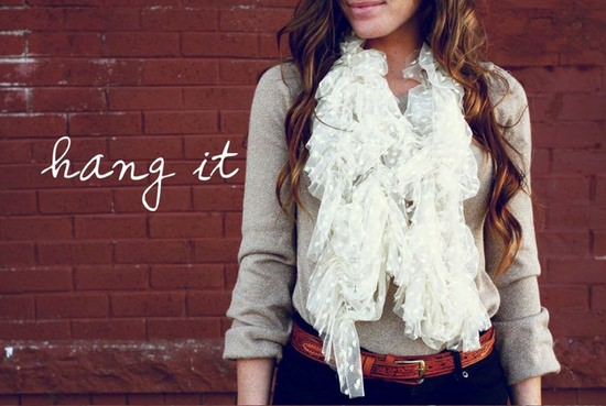 Lace DIY Scarf