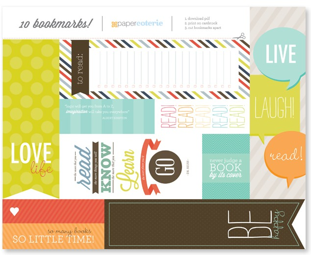 10 Free Printable Bookmarks