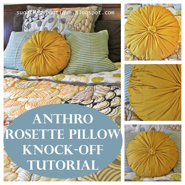 Anthro Rosette Pillow Tutorial