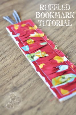 ruffled bookmark