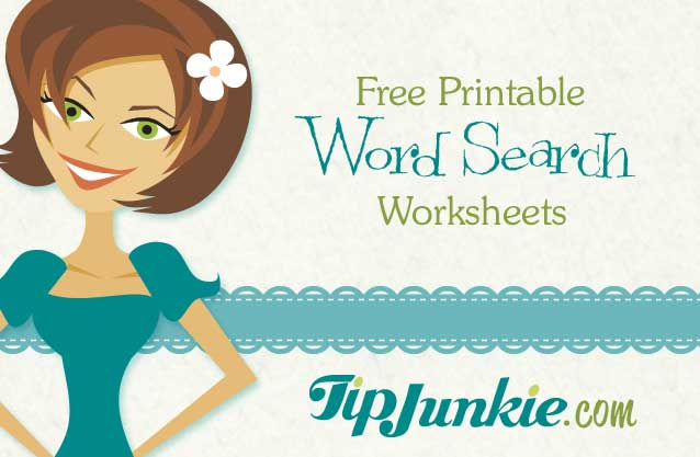 Free Printable Word Search Worksheets