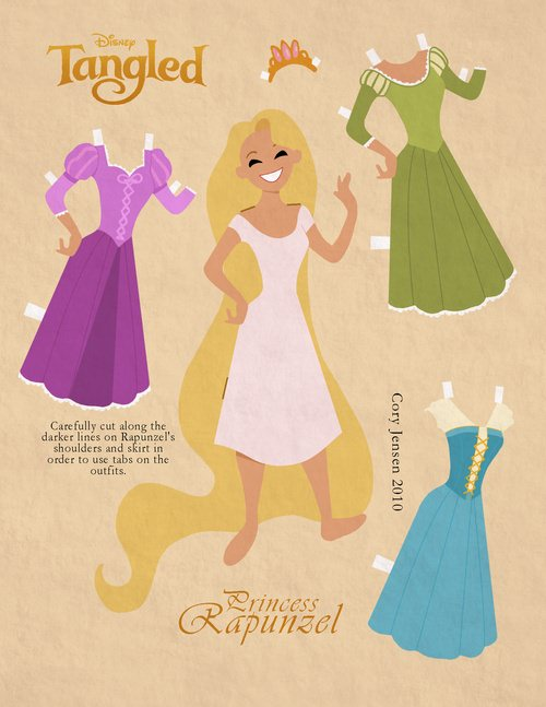 Princess Dress Up Paper Doll