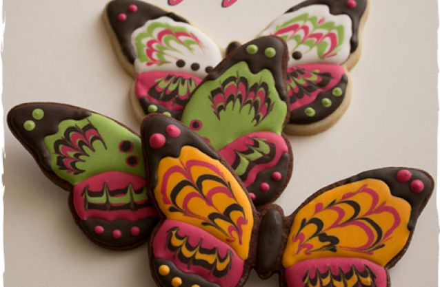 How to Make Marbled Butterfly Cookies