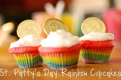 How To Make St. Patrick's day Rainbow Cupcakes