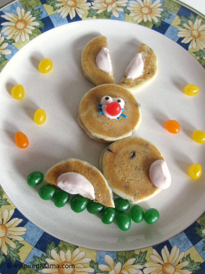 Easter Bunny Pancakes with Aunt Jemima Lil' Griddles from B-InspiredMama