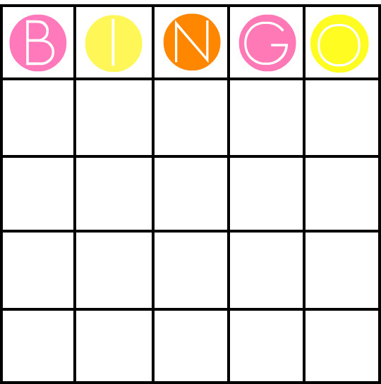 Blank Bingo Cards Template