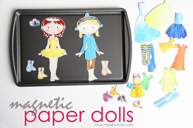 DIY Magnetic Paper Dolls {Sewing & Fabric Projects}