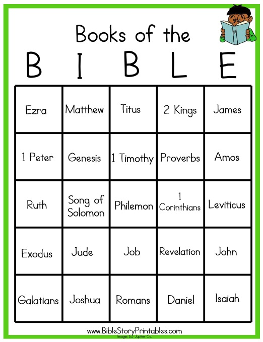 Bible Bingo Template - Apigram.Com