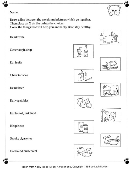 nutrition worksheet