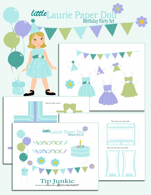 Free Paper Doll And Printable Dress Ups  Tip Junkie
