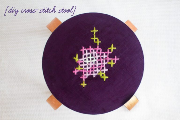 DIY Cross-Stitch Stool