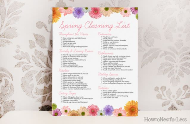 Spring Cleaning Free Printable