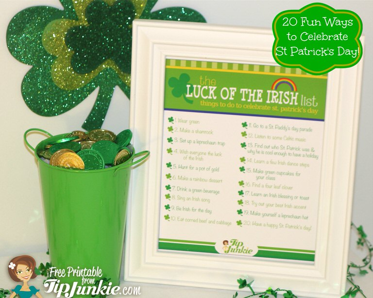 st patricks day list