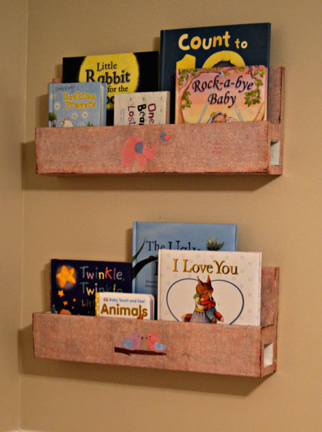 wall mount bookshelves