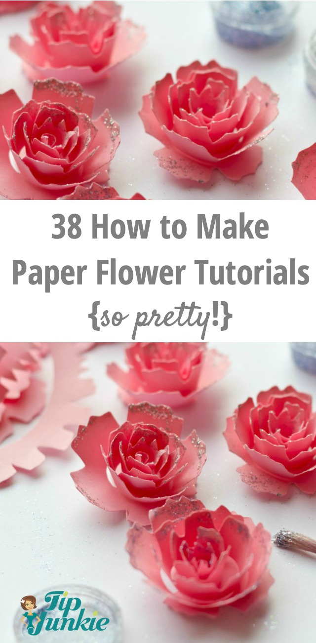 38 How to Make Paper Flower Tutorials {so pretty!} | Tip Junkie